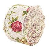 DIY Vintage Toile de Jute Rouleau de Ruban Rose Fleur Imprimé Jute Ruban Hesse Ceinture Sangle de Mariage Tissu Décoration 10 m