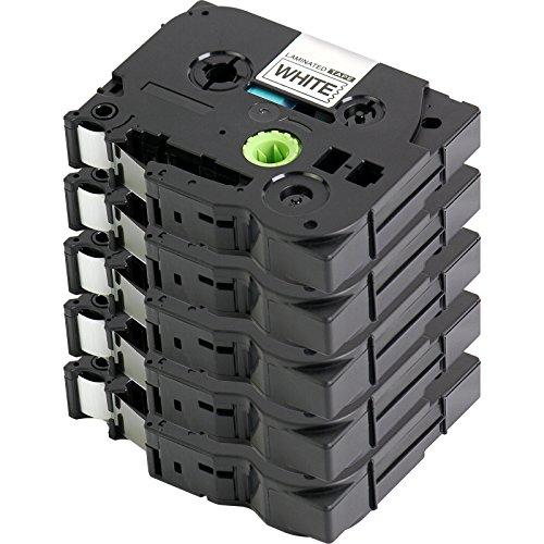 5x Label Tape / Nastro Laminato per BROTHER P-Touch TZe 221 / TZ 221 | 5x nero sur bianco / 9mm x 8m | compatibile per Brother P-Touch 1000 1010 1090 1830VP 2030VP 2100VP 2430PC 2470 2730VP 7100VP 7600VP H100 H300 D200 e altri dispositivi P-touch