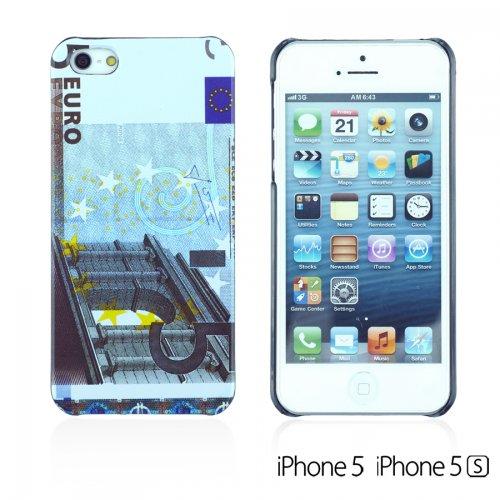 OBiDi - US Dollar Euro Pound Money Style Designed Hard Case Cover / Housse pour Apple iPhone SE / Apple iPhone 5S / 5 - 20 Euro 5 Euro
