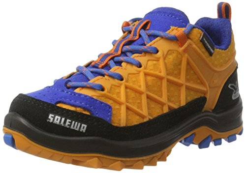 Salewa Jr Wildfire Waterproof, Zapatillas de Senderismo Unisex Niños, Multicolor (Arancio/Davos 8490), 38