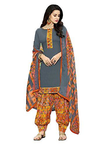 Applecreation Women's dress materials (Grey_salwar suits for women party 19SDP19002)