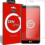 nandu I ZenGlass [2 Stück] Flexible Glas-Folie für LG Stylus 2 Panzerfolie I Display-Schutzfolie 9H