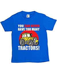 Fancy A Snuggle You Can Never Have Too Many Tractors Big Yellow Farm Kids Boys T-Shirt