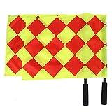 Alomejor arbitro bandiere, Linesman 2PCS/bag calcio schiuma maniglia arbitro segnale bandiere con