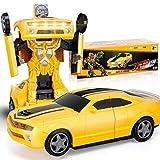 YOOCR Électrique universel for enfants jouet de déformation non télécommandé voiture ABS en plastique musique jouet automatique de déformation jouet avec effet sonore de grands jouets for les garçons