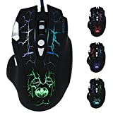 Gaming Mouse 3200 DPI Optical With 7 Soothing LED Colors And 6 Buttons, Ergonomic USB Wired Mice For Gaming Laptop, PC, Computer, Notebook