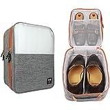 BUBM Bolsa Organizador para 2-3 pares de Zapatos Portátil Caja Maletín de Zapatos Impermeable, Resistente al Agua, Maleta Equipaje para Zapatos Ropa interior de Viajes (Gris)