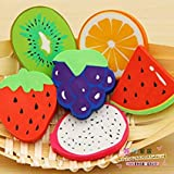 #6: Days Off Fruit Shaped Stylish Colorful Eraser Stationery Return Gift For Kids Pack Of 6 (24 Eraser)
