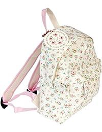 Preisvergleich für LS Design Kinderrucksack Kindergarten-Tasche Kinder Rucksack Vorschule La Petite Rose Weiss Rosa 20x28x9cm