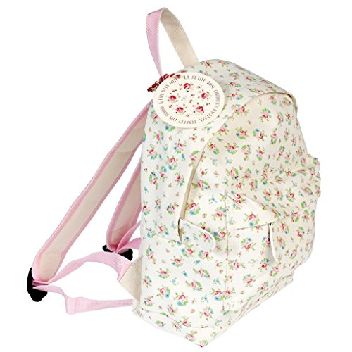 LS Design Kinderrucksack Kindergartentasche Kindergarten Vorschule Rucksack Kinder Mädchen La Petite Rose (Baumwolle Petite Nylon)