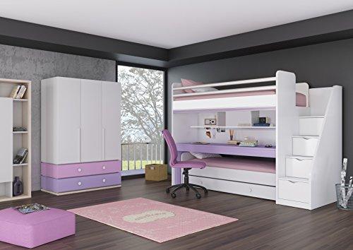 Etagenbett Mit Schrank Und Schreibtisch : Lll➤ hochbett inkl kleiderschrank test vergleich neu