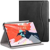 Ztotop Case for iPad Pro 11 Inch 2018,Premium Leather Business Folio Case Cover,with Stand and Pocket,Support 2nd Gen iPad Pencil Wireless Charging and Auto Wake/Sleep,Multi-angle,Black