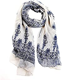 Broadfashion Women's Autumn Spring Fashion Soft Big Long Scarf Vintage Printing Scarves
