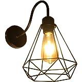 Applique Murale Interieur Vintage, Industrielle Lampe Murale LED, E27 Rétro Luminaire Mural pour Bar, Café, Chevet, Escalier,