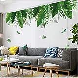 Groene Plant Muursticker Home Tropisch Regenwoud Bamboe Blad Inkjet Muurstickers Kinderkamer Interieur Behang