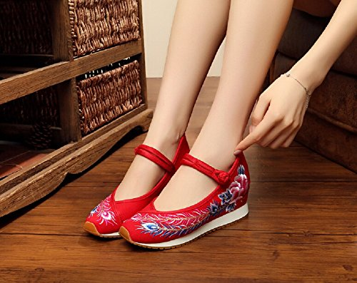 Lazutom , Mary Janes pour femme red