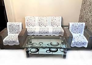 Shc Rose Petal Net Sofa Slipcover Set