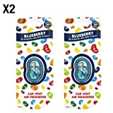 Jelly Belly Blueberry saveur Désodorisant pour voiture grille d'aération–Lot de 2(Lot de 2)