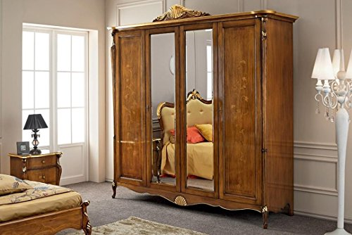 Dafnedesign.com – Armadio, 4 ante con specchio, cassettiera ...