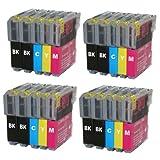 20 kompatibele Hainberger Druckerpatronen für Brother, LC985BK, LC985C, LC985M, LC985Y (8x black, 4x cyan, 4x magenta, 4x yellow)