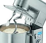Profi Cook PC-KM 1096 Multi-Küchenmaschine, 10 L Edelstahlschüssel, massives Alu-Druckguss-Gehäuse, LCD-Display, 1500 W