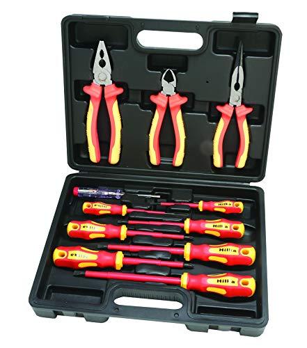 Hilka 34688011VDE Schraubendreher und Zange Set–Rot/Gelb (11-teilig)