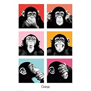 Empireposter - The Chimp - Pop - Größe (cm), ca. 61x91,5 - Poster