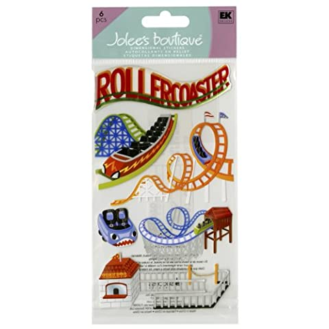 Jolees Jolee's Boutique Dimensional Stickers-Roller Coasters, Other, Multicoloured