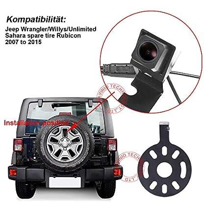 Dynavsal-Auto-Rckansicht-Kamera-Wasserdicht-Nachtsicht-Einparkhilfe-Rckfahrsystem-Rckfahrkamera-fr-Jeep-WranglerWillysUnlimited-Sahara-Spare-tire-Rubicon-2007-to-2015