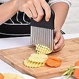TAOtTAO Outil de cuisine à bords ondulés en acier inoxydable pour couper les fruits et légumes
