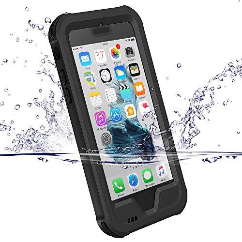 iPhone 7 Hülle, iPhone 8 Case, ZVE® Wasserdichte Ganzkörper Outdoor Staubdicht Schneedicht Stoßfest Schutzhülle Hülle Tasche Bumper Cover Case mit Displayschutz für iPhone 7/8 4.7 zoll Schwarz
