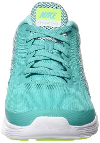 Nike Revolution 3 (Gs), Chaussures de Course Femme Verde (Clear Jade / Volt-Hyper Turq-White)