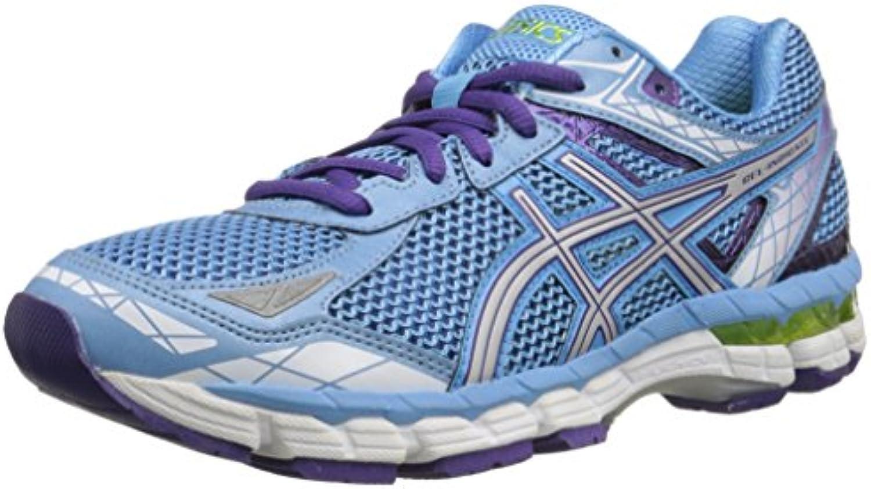 Calzado de running con indicador de gel para mujer, azul / rel¨¢mpago / violeta suave, 6.5 M EE. UU.
