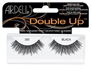 Ardell Glamour Style Number 203 Double Up Eye Lashes, Black