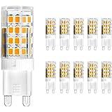 Bellota 5W G9LED bombillas, 50W bombillas halógenas equivalentes, blanco cálido, 360Degree Ángulo de haz, bombilla G9–Pack de 10[clase energética A +]