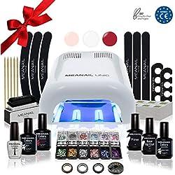 Lampara LED UV Secador de Uñas Esmalte Semipermanente Pintauñas Decoración de Uñas Kit Manicura y Pedicura Nail Factory Edition Deluxe White
