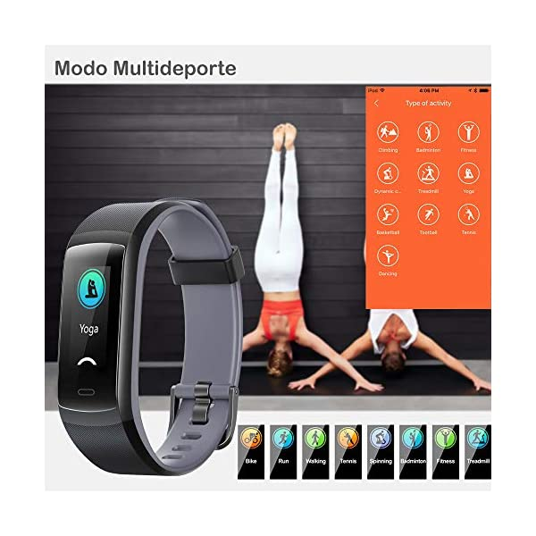 willful Pulsera de Actividad, Pulsera Inteligente con Pulsómetro Reloj Inteligente Impermeable IP68 Pulsera para Deporte Pulsera Actividad Inteligente para Mujer Hombre Niño para Android iOS Teléfono 6