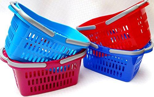 Schulz 244002 Einkaufskorb mit Bügel ca. 49x29x24cm - diverse Farben - keine Farbauswahl möglich!