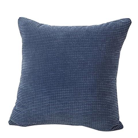 Remplissez eonshine Luxueux trop fluffly Duvet Alternative Couvre-lit décoratif carré taie d'oreiller, couleur unie, Lot de 1SCS (d'angle Taie d'oreiller), Microfibre, bleu, 22 x 22
