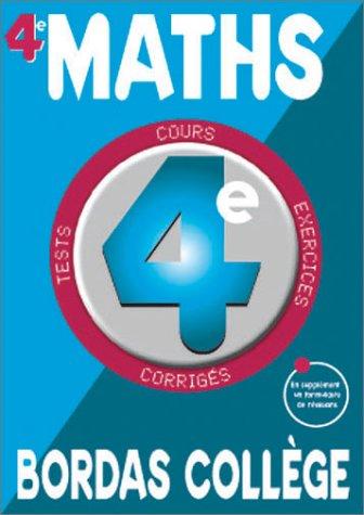 B.COLL. MATHS 4E NE NP    (Ancienne Edition)