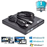 USB 2.0 External CD DVD Drive DVD Rom CD Burner Writer Rewriter Copier Slim Portable CD-RW For Netbook, Notebook, Desktop, Laptop, MAC, Support Windows 10,8,7,Vista, XP, MAC OS - Victorian Systems®