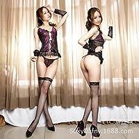 Commercio SUNZHENForeign donne sexy erotica lingerie sheer merletto Lace pigiami prima tentazione (Sheer Lingerie Set)