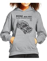 Haynes Workshop Manual Mini MkI Black Kid's Hooded Sweatshirt