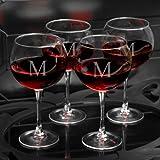 Personalizzato diretto personalizzato rosso vino occhiali–Set di quattro