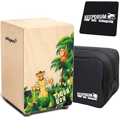 Schlagwerk CP400 Tigerbox Junior Kinder-Cajon + keepdrum Tasche + Sitz-Pad