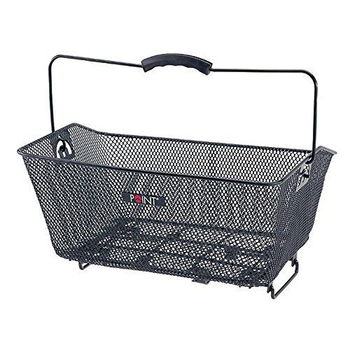 Point Hinterradkorb Ergogriff- Gepäckträgerklemmbefestigung schwarz 40x30x17cm