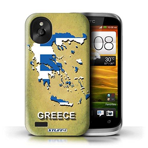 Kobalt® Imprimé Etui / Coque pour HTC Desire X / Autriche conception / Série Drapeau Pays Grèce/Grecque