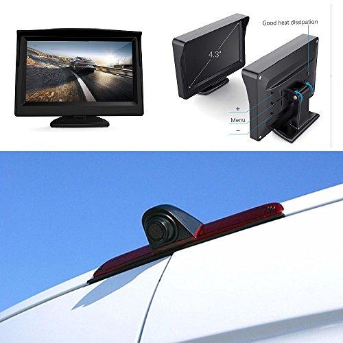 "Dachkante Einparkhilfe Rückfahrkamera integriert in 3. Bremsleuchte Kamera für MB W906 Sprinter Transporter VW Crafter + 4,3\"" Zoll DVD Monitor TFT Bildschirm Rückfahrkamera LKW KFZ LCD Display"