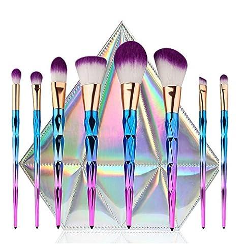 Ttrwin® Femme Mode 8pcs Maquillage Fond de teint sourcils Eyeliner Blush cosmétiques Anti-cernes brosses