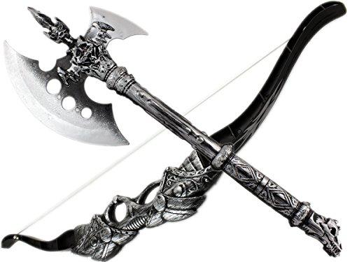 GYD Axt Pfeil und Bogen Ritter Krieger Kinder Set Indianer Set mit Pfeilen (Kostüm Schwarzer Bogen Pfeil Und)